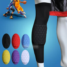 Adult Kids Honeycomb Pad Crashproof Antislip Basketball Leg Brace Knee Sleeve