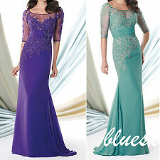 2014 Sexy Mother of the Bride Dresses Sheath Lace Women Formal Long Party Dress