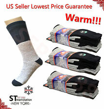 3,12 Pairs Men's Super Warm Heavy Thermal double Insulated Winter Socks ONE SIZE
