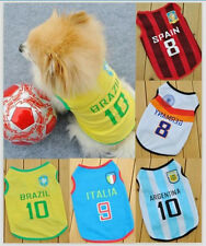 New WORLD CUP FOOTBALL Soccer Player Costume T-shirt Jersey Vest Dog Cat Coat r