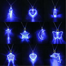 Popular Beautiful LED Blue Magnetic Light Pendant Necklace Xmas Dancing Party