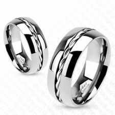 "Titan mens ladies Ring silver ""Rope Twist Inlay New JEWELRY by ALLFORYOU"