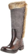 Dirty Laundry Ringside, Rain Boot, Rubber and Fabric Upper with Faux Fur Trim