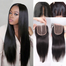 3 Way Parting Lace Top Closure 6A Brazilian Remy Human Hair Bleached Knots 4x4""