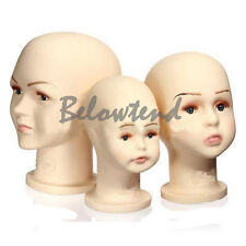 Kids Children Baby Plastic Mannequin Display Hats Glasses Wigs Bonnet W