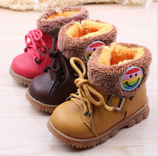Kids' Girls Boys Snow Boots Winter Warm Thicken Shoes Synthetic Leather New Hot