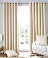 "Cream Solitaire Woven Jacquard  Lined Curtains Eyelet or Taped 54"" 72"" 90"""