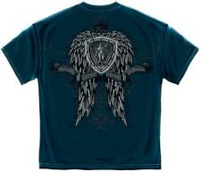 POLICE SKULL WINGS TSHIRT POLICE PROTECT AND SERVE  T-SHIRT