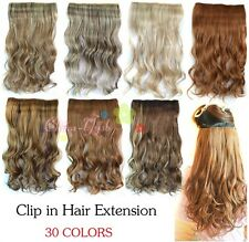 One Piece Sexy Women's Wavy Curly 5 Clips Clip-in Synethic Human Hair Extensions