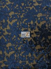 """FLORAL FASHION DRESS GOWNS SEQUINS LACE FABRIC 56"""" WIDTH SOLD BY THE YARD PROM"""
