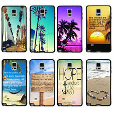 New Tropical Palm Tree with Bible Verse TPU Bumper For Samsung Galaxy Note2/3/4