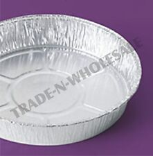 INDIVIDUAL FOIL FLAN, PIE DISHES, CASES, ROUND, CONTAINER, DISH, DISPOSABLE TRAY