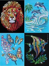 Sequin Art Lion Dolphin Butterfly Angel Fish Craft Kit KSG Creations Children