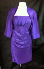 SALE Cadbury PurpleTaffeta Mother of the Bride Outfit/Dress With Jacket 18