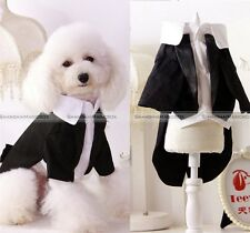 Pet Cat Puppy Dog Apparel Prince Tuxedo Suit Clothes Jumpsuit Shirt XS-XXL
