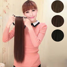 Women Long Horsetail Hair Extensions straight Party Ponytail Hairpiece Cosplay