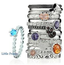 Spinning Jewelry PRIMO Collection Stackable Rings Size 7.25 [European Pandora]