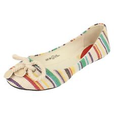 Girls H2229 slip on beige multi-coloured shoes by spot on Retail price £5.99