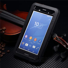 Waterproof Shockproof Metal Aluminum Gorilla Glass Case Cover For SONY Xperia Z3