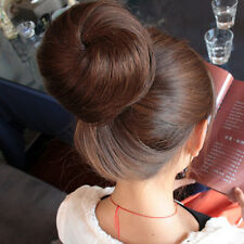 New Bridal Party Synthetic Hairpiece Hair Bun Clip in/on wig Extention
