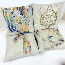 Animal Printed Pillow Case Cushion Cotton linen Cover Square 1pcs A68