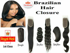 Brazilian Virgin Human Remy Hair Closure Lace Extension Bleached Knots