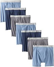 FRUIT OF THE LOOM Men's 7-Pack Boxer Briefs Assorted 100% Cotton Size S, M, XXL