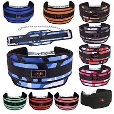 4FIT NEOPRENE DIPPING BELT/ WEIGHT LIFTING/ GYM DIP BELT WITH METAL CHAIN