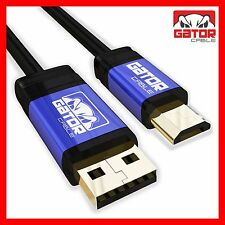 Micro USB Cable Charger Cord Sync Data Samsung S2 S3 S4 S6 S7 Note 2 4 5 HTC LG