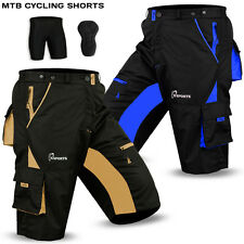 MTB Cycling Short Off Road Cycle Bicycle Cool Max Padded Liner Shorts S To XXL