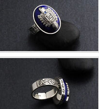 The Vampire Diaries Damon Salvatore Anelli 925 Silver Ring Cosplay Prop