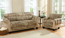 Collections Etc Leopard Animal Print Furniture Slip Cover
