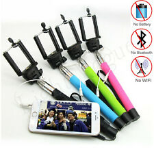 Handheld Wired Remote Selfie Stick Monopod Extendable Pole Holder For IPhone
