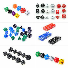 D4 D6 D8 D10 D12 D20 Multi Sided Role Playing Dices RPG D&D Party Game Dice