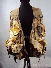 NEW Desert Camouflage All Arms Utility Vest Paintballing Airsoft XL & Standard