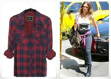 [HOT] Rails Kendra Navy Red Candy Apple XS/M button-down black plaid shirt