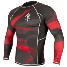 Hayabusa Metaru 47 Long Sleeve Rashguard (Black/Red) - bjj ufc mma