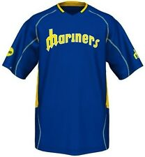 Seattle Mariners Majestic Vintage Mens Champ Jersey Royal Blue Big & Tall Sizes