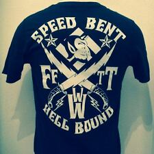 SPEED BENT HELL BOUND T devil biker harley leather jacket boots belt patch decal