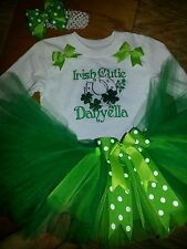Irish Cutie St. Patricks Day tutu outfit, preemie-6, customizable