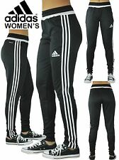 Women's Adidas Soccer Pants Condivo 14 Slim Fit  Climacool Black Skinny Athletic