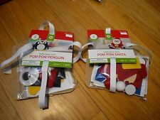 New ! Make Your Own Pom Pom Penguin or Santa No glue Needed Kid's Activities