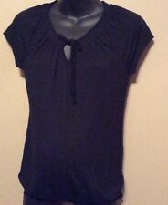 "Maternity ""Old Navy"" black knit top shirt V neck Tie NWT size S"