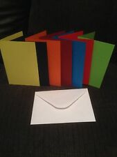 10 x A6 CARD BLANKS PRE SCORED WITH WHITE ENVELOPES  U CHOOSE COLOUR