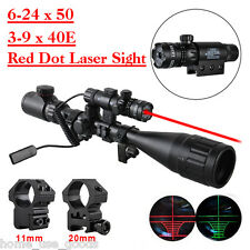 3-9x40 / 6-24x50 Air Rifle scope 11mm / 20mm Spare Mounts Red Dot Laser Sight UK