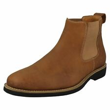 Mens CARDOSO cognac Leather Slip On Chelsea Boots by Anatomic & Co £120.00