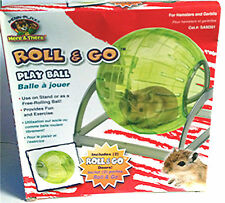 SMALL ANIMAL/ HAMSTER ROLL & GO PLAY BALL-FREE TREATS!-2 SIZES ! 2 WAYS TO PLAY!