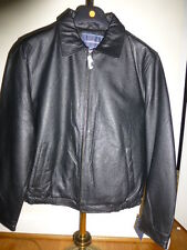 Croft & Barrow Black Leather Jacket Men's  Large  XL NEW