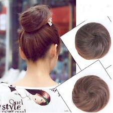 New Pony Tail Womens Clip in/on Hair Bun Hairpiece Hair Extension Scrunchie O34