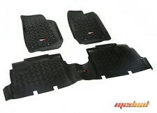 Rugged Ridge Floor Liner Kit, Black, 07-15 Jeep 4-Door Wrangler JK 12987.04